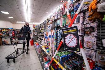 Mittelsachsen: Strenge Supermarkt-Regeln bleiben