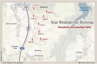 Acht neue Windräder im Osterzgebirge?