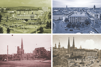 Dresdner Ansichten im Wandel der Jahrzehnte