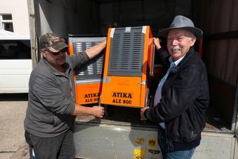 Döbelner Unternehmer stellt Bautrockner für Flutgeschädigte
