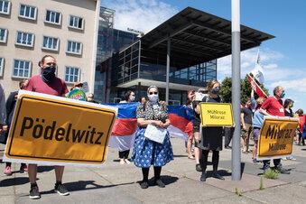 Protest gegen Kohleabbau in Dresden