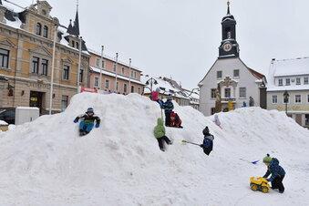 Winterspaß auf dem Wilsdruffer Markt