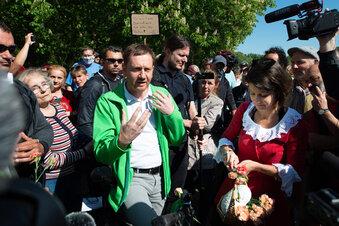 Ministerpräsident besucht Corona-Demo