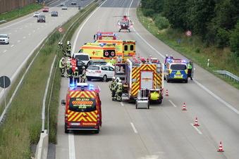 Wilsdruff: Langer Stau nach Unfall auf A4