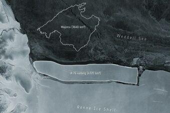 Weltgrößter Eisberg in Antarktis entdeckt