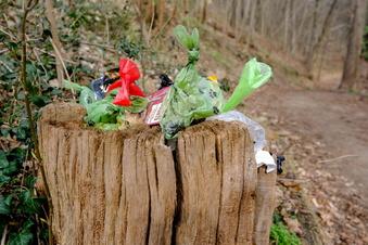 Tüten mit Hundekot im Lößnitzgrund entsorgt