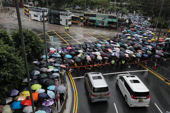 Tausendedemonstrieren inHongkong