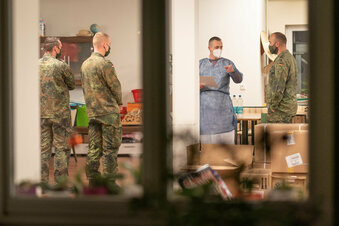 Corona in Freital: Bundeswehr hilft im Pflegeheim