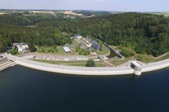 Klingenberg: Talsperren-Pegel steigt wegen Bauarbeiten