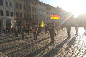 Polizei löst Demo auf Zittauer Markt auf