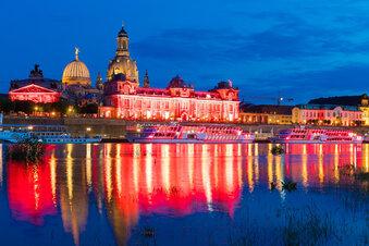 Warum Dresden am Montag rot leuchtete