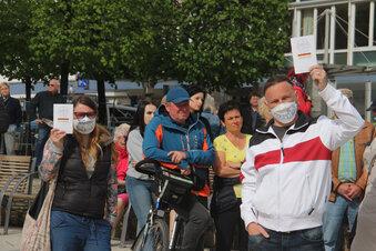 Corona-Maßnahmen: Protest in Bautzen und Kamenz