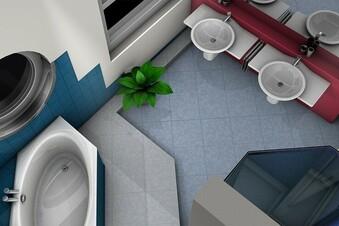 So wirkt ein kleines Bad gleich geräumiger