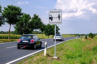 Vermessungen für Radweg nach Dresden