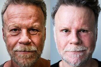 Geteiltes Gesicht nach Experiment