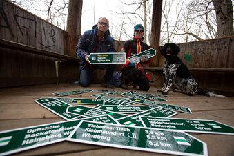 Neue Schilder für Freitals Wanderwege