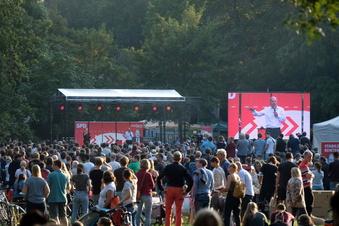 Großer Zulauf für Scholz bei Wahlauftritt in Leipzig