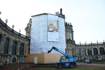 Glockenspielpavillon im Zwinger bekommt Kompressen