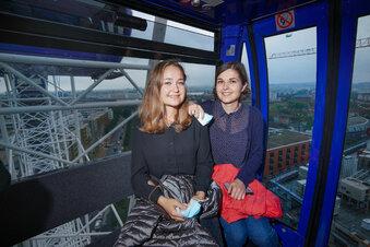 Fünf Ausblicke vom Dresdner Riesenrad