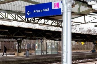 Bischofswerda: Schmierereien am Bahnhof