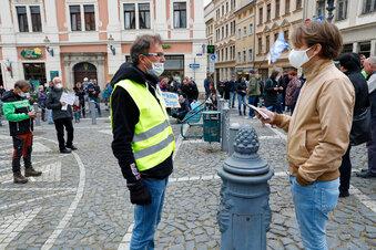 Corona: Protestaktion in Zittau