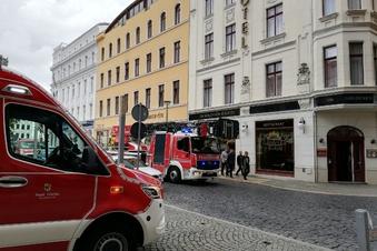 Feuerwehr rückt zum Görlitzer Marienplatz aus
