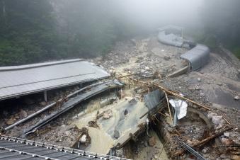 Unwetter zerstört Bobbahn am Königssee
