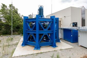 Dresdner Speicher für Windkraft in Betrieb