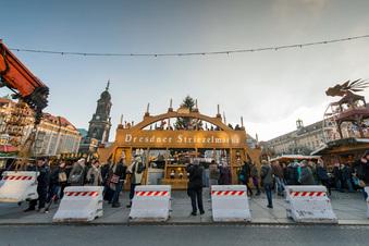 Striezelmarktschutz: Die Stadt mauert