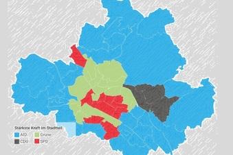 Wo die Dresdner welche Parteien gewählt haben