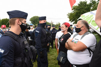 Polizei muss bei Turów-Demo eingreifen