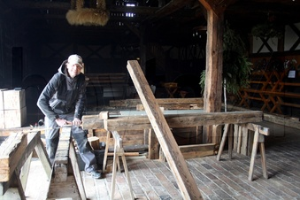 Winterbaustelle an der Krabatmühle