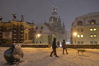 Erster Dezember-Schnee in Dresden?