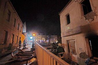 Brand in ehemaliger Pizzeria