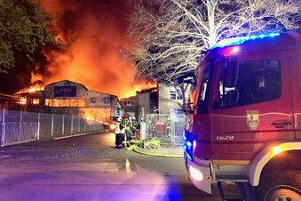 Großfeuer in Heidenau