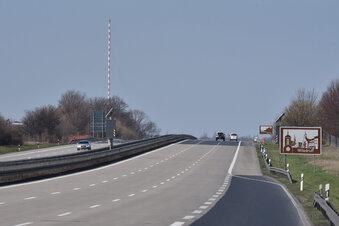 Nächtliche Sperrung der A4 bei Wilsdruff