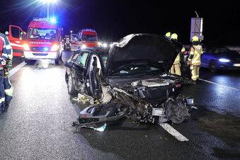 Ein Schwerverletzter bei Unfall auf der A 4