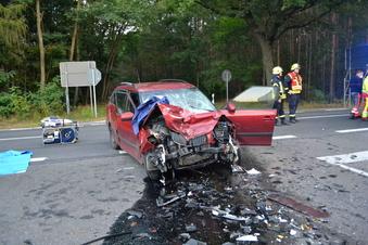 Schwepnitz: Schwerer Verkehrsunfall auf der B 97