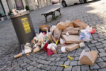 Wegen Corona: zu viel Müll in Löbau
