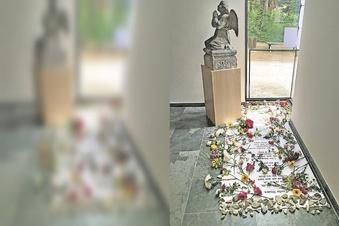 Kunst-Installation im Krematorium