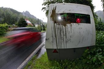 Blitzer blitzt in Bad Schandau