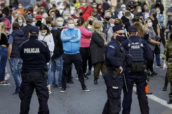 So lief der Grenz-Protest in Görlitz und Zgorzelec