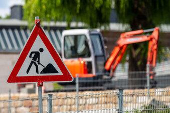 Was wird hier am Elberadweg gebaut?