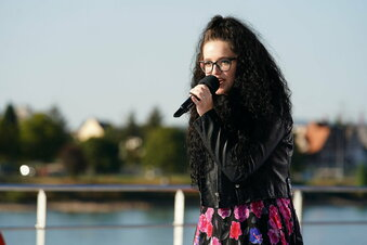 Eine Dresdnerin auf der DSDS-Bühne