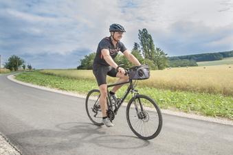 Licht und Schatten beim Radeln in Wilsdruff