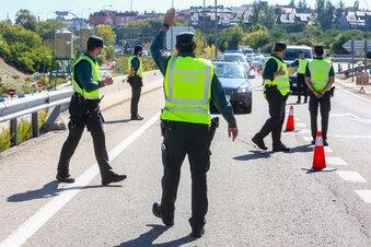 Polizei verhaftet an A17 gesuchten Straftäter