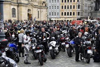 Biker protestieren in Dresden