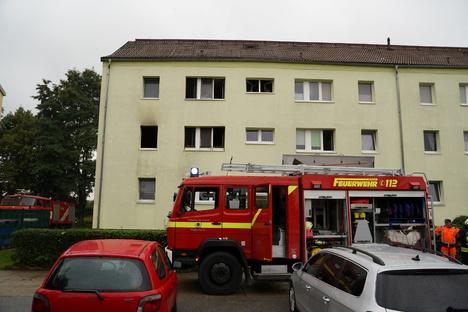Brand in Malschwitz - Vierjähriger springt aus Fenster