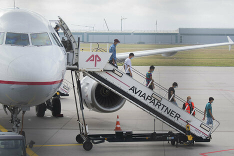 Migranten aus Moria landen in Hannover