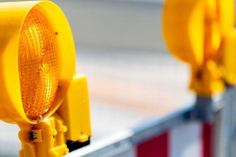 Dresdener Straße halbseitig gesperrt